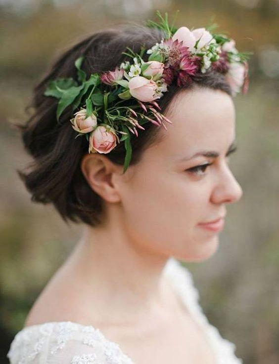 7 Ideas Para Novias Con Pelo Corto Espacio Novias Argyor - Peinados-para-novias-pelo-corto